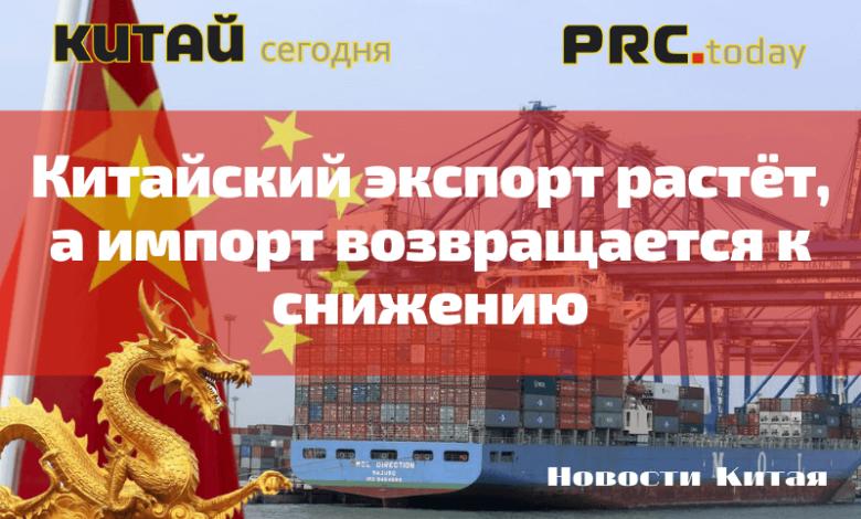 Китайский экспорт растёт