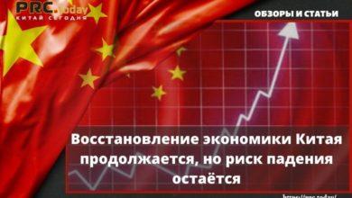 Photo of Восстановление экономики Китая продолжается, но риск падения остаётся