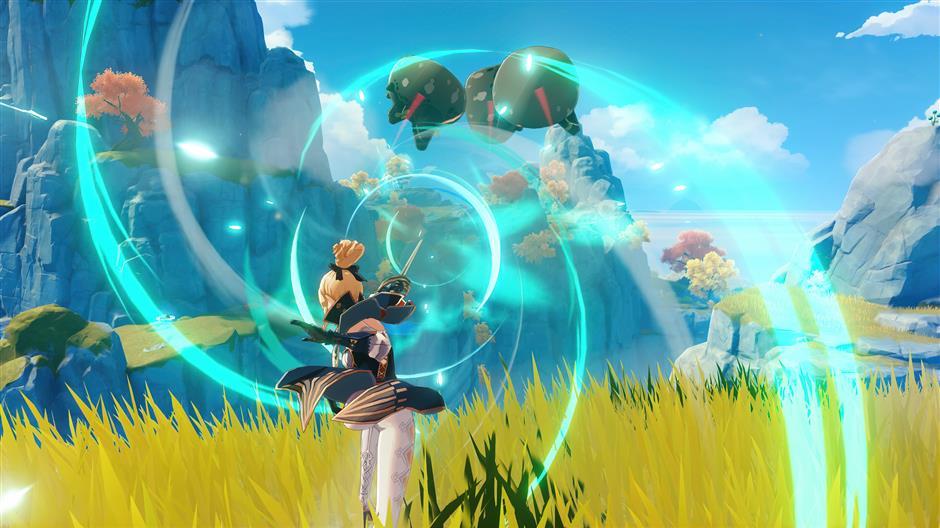 В игре представлены фантастические пейзажи