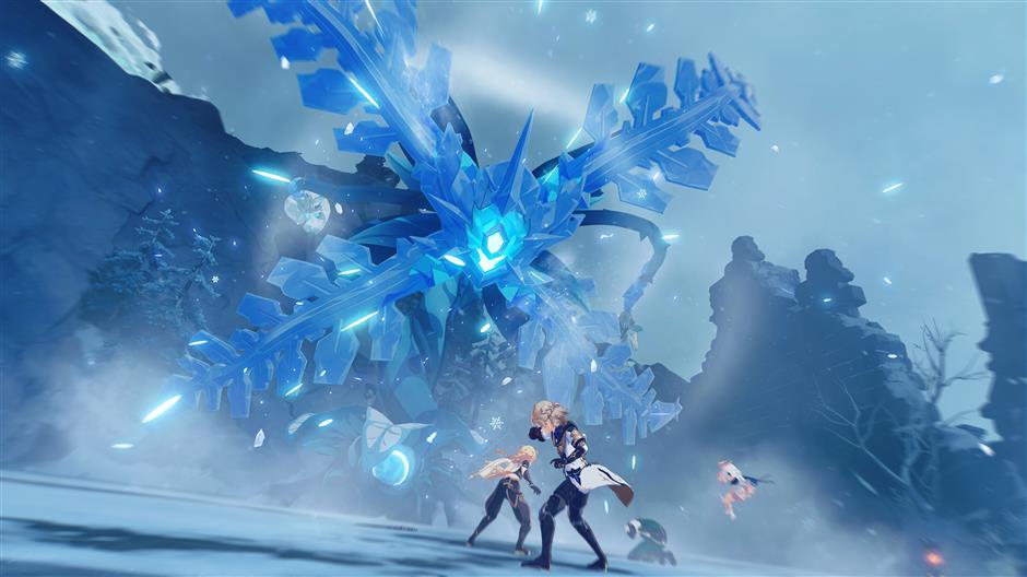 Игроки могут использовать «силу стихий», таких, как огонь, гром или лед, когда их персонажи сражаются