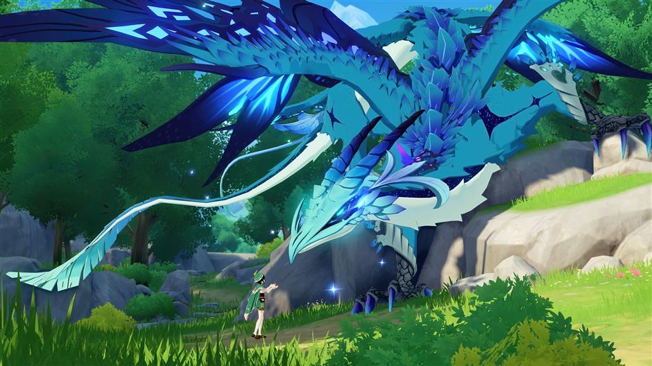 Игроки встречают фантастических существ в виртуальном мире Тейват