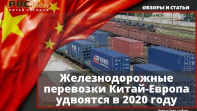 Железнодорожные перевозки Китай-Европа удвоятся в 2020 году