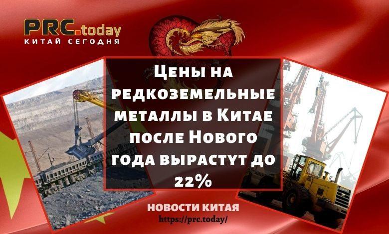 Цены на редкоземельные металлы в Китае после Нового года вырастут до 22%