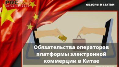 Обязательства операторов платформы электронной коммерции в Китае