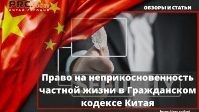 Право на неприкосновенность частной жизни в Гражданском кодексе Китая