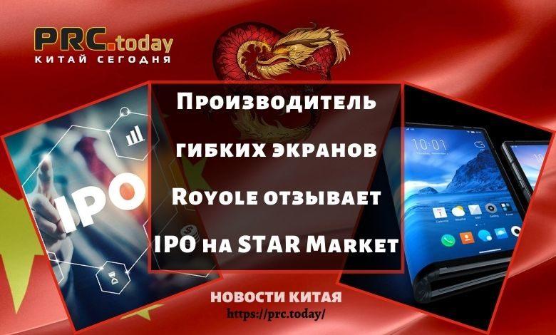 Производитель гибких экранов Royole отзывает IPO на STAR Market