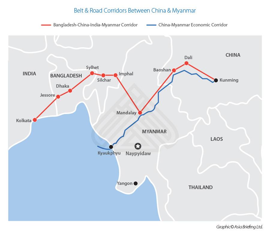 Китайские проекты «пояс и путь» в Мьянме