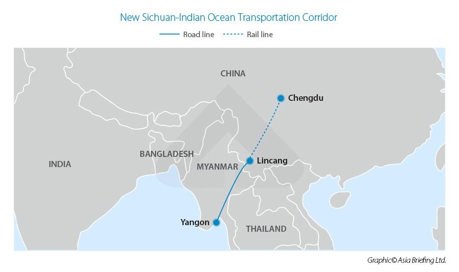 Новый мультимодальный маршрут Китай-Мьянма соединяет Сычуань с Индийским океаном
