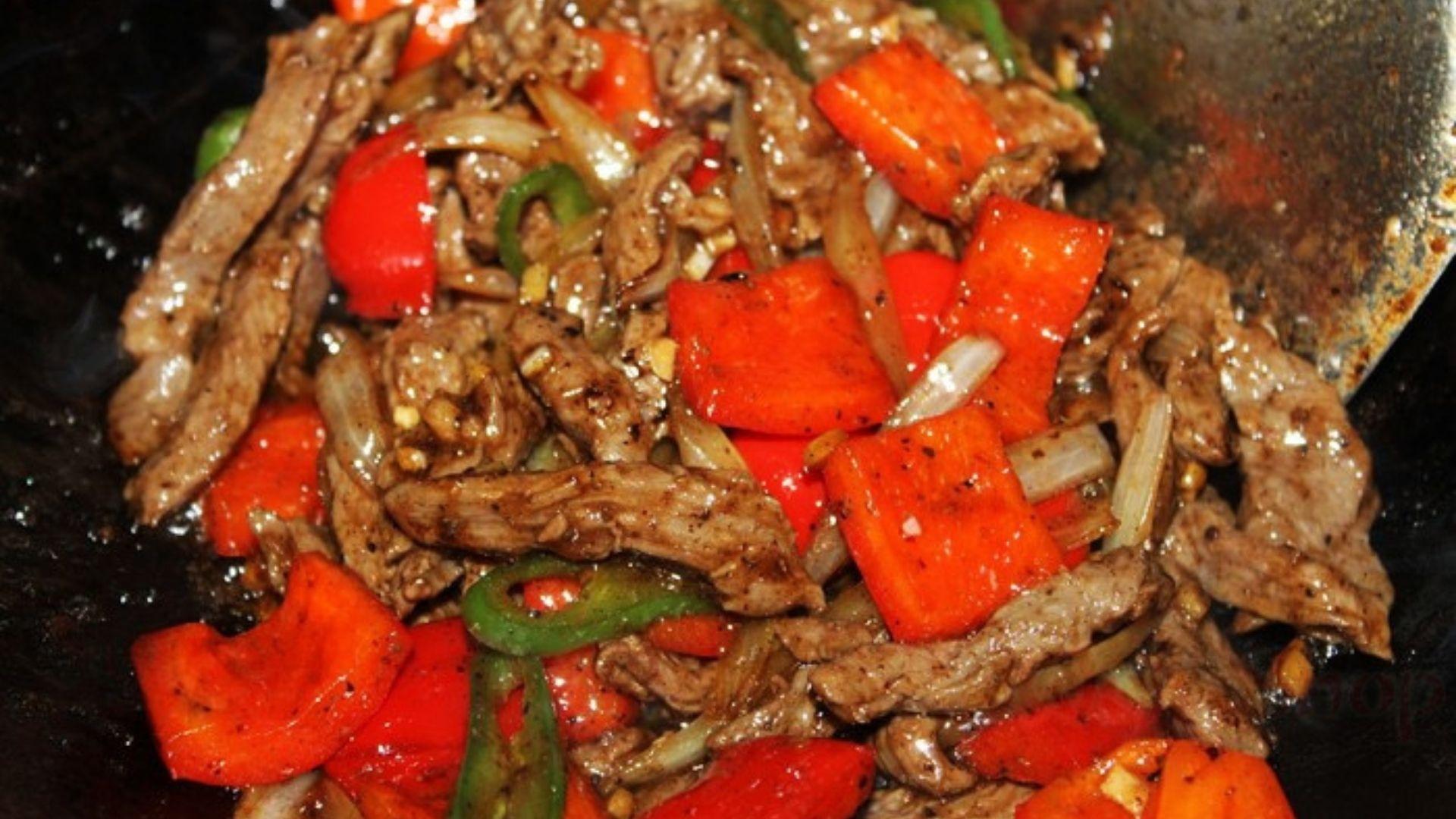 Рецепт китайской говядины с овощами