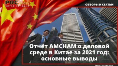 Отчёт AMCHAM о деловой среде в Китае за 2021 год основные выводы