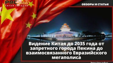 Видение Китая до 2035 года от запретного города Пекина до взаимосвязанного Евразийского мегаполиса