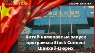 Китай намекает на запуск программы Stock Connect Шанхай-Цюрих