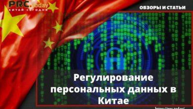 Регулирование персональных данных в Китае