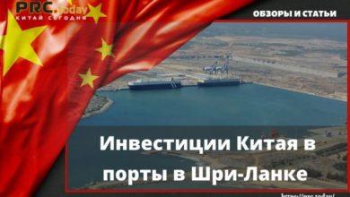 Инвестиции Китая в порты в Шри-Ланке