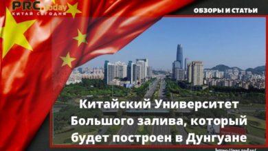 Китайский Университет Большого залива, который будет построен в Дунгуане