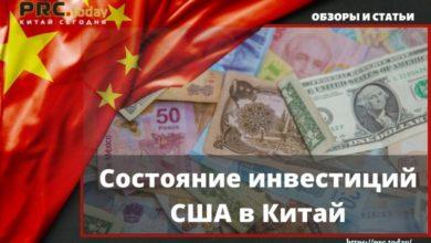 Состояние инвестиций США в Китай