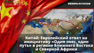 Китай: Европейский ответ на инициативу «Один пояс, один путь» в регионе Ближнего Востока и Северной Африки