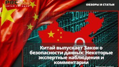 Китай выпускает Закон о безопасности данных: Некоторые экспертные наблюдения и комментарии