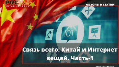 Связь всего: Китай и Интернет вещей. Часть-1