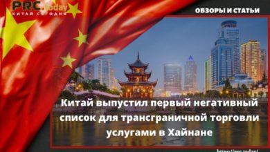Китай выпустил первый негативный список для трансграничной торговли услугами в Хайнане