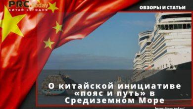 О китайской инициативе «пояс и путь» в Средиземном Море